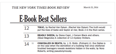 Saturday special the twelve sweeps ny times best sellers diane