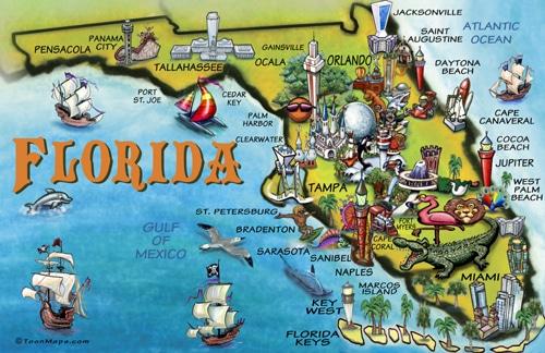 Florida Cartoon Map