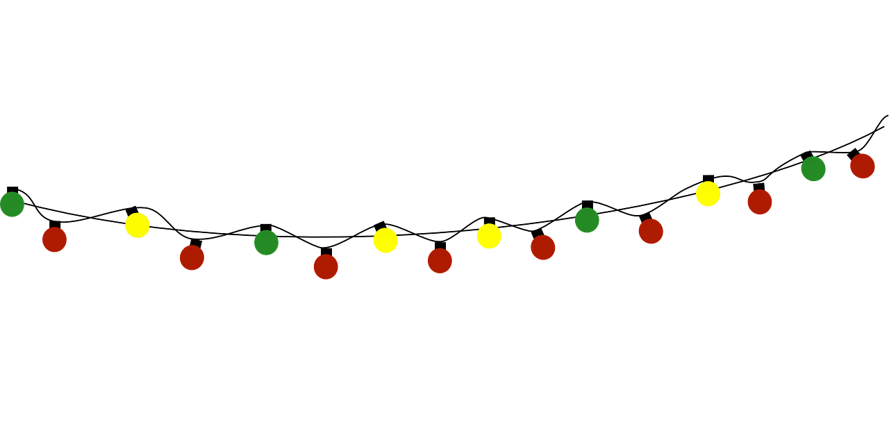 Half String Of Christmas Lights Blinking : Outdoor String Lights Png Images - pixelmari.com