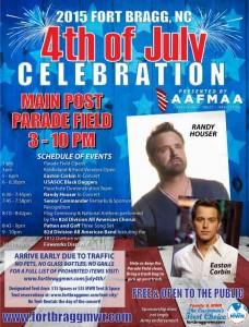 Fort Bragg 4th of July Flyer