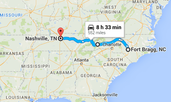 From Fort Bragg to Nashville