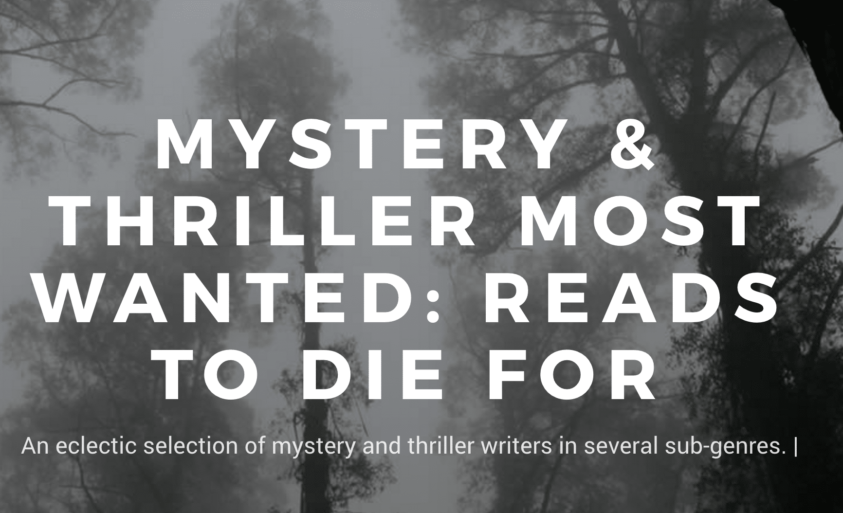 mystery thriller books reviews