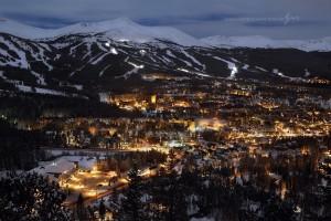Breckenridge CO at night