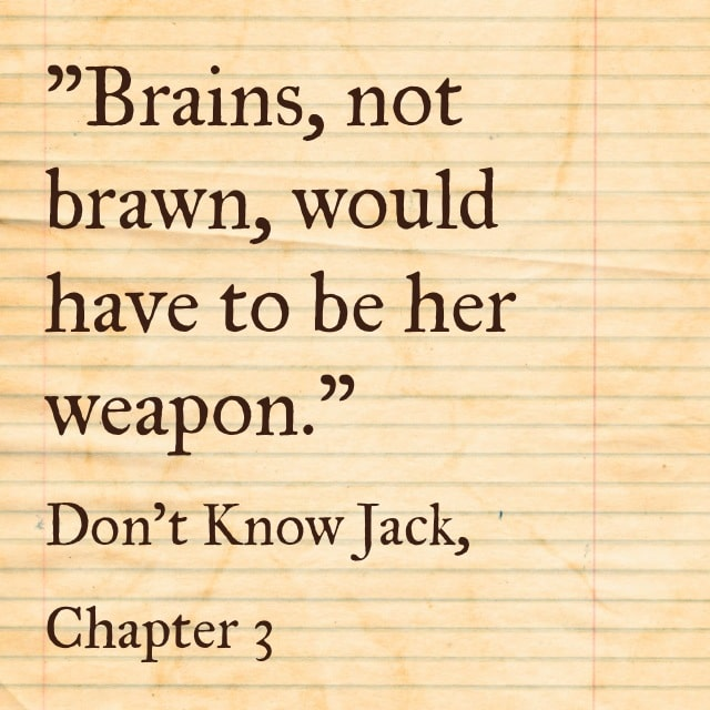 Quote- Don't Know Jack- Brains