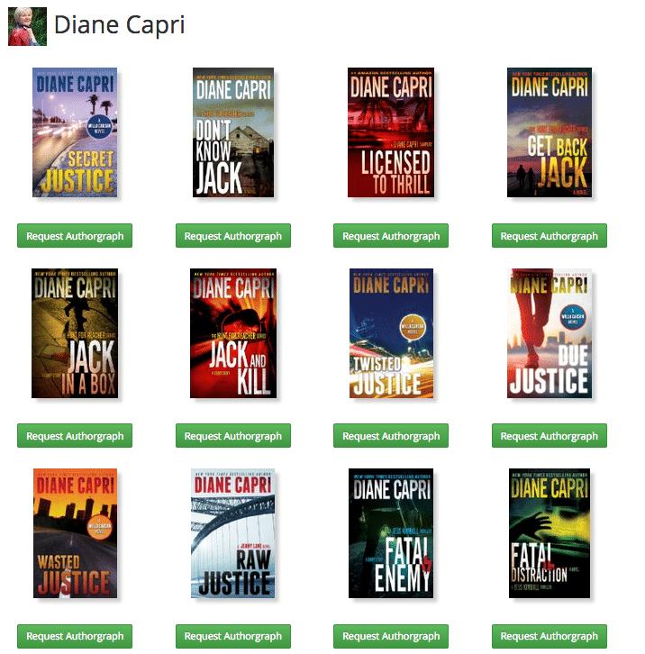 Diane Capri Authorgraph