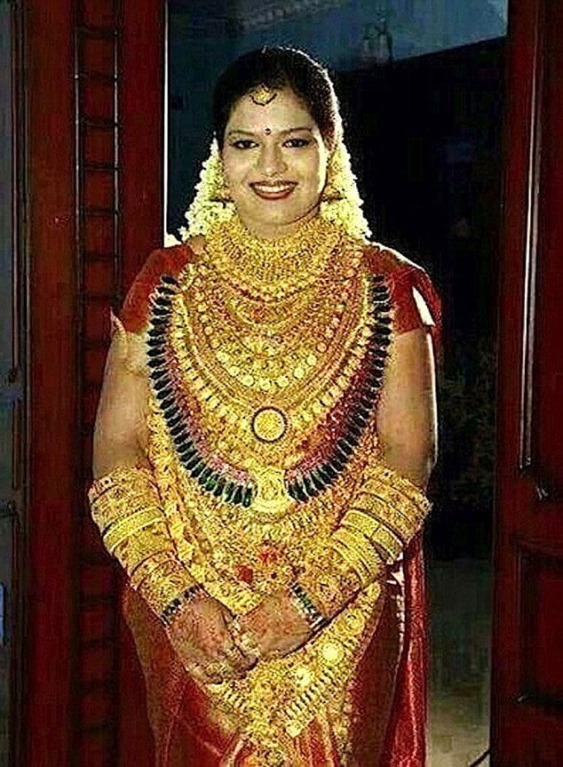 India Bride in Gold