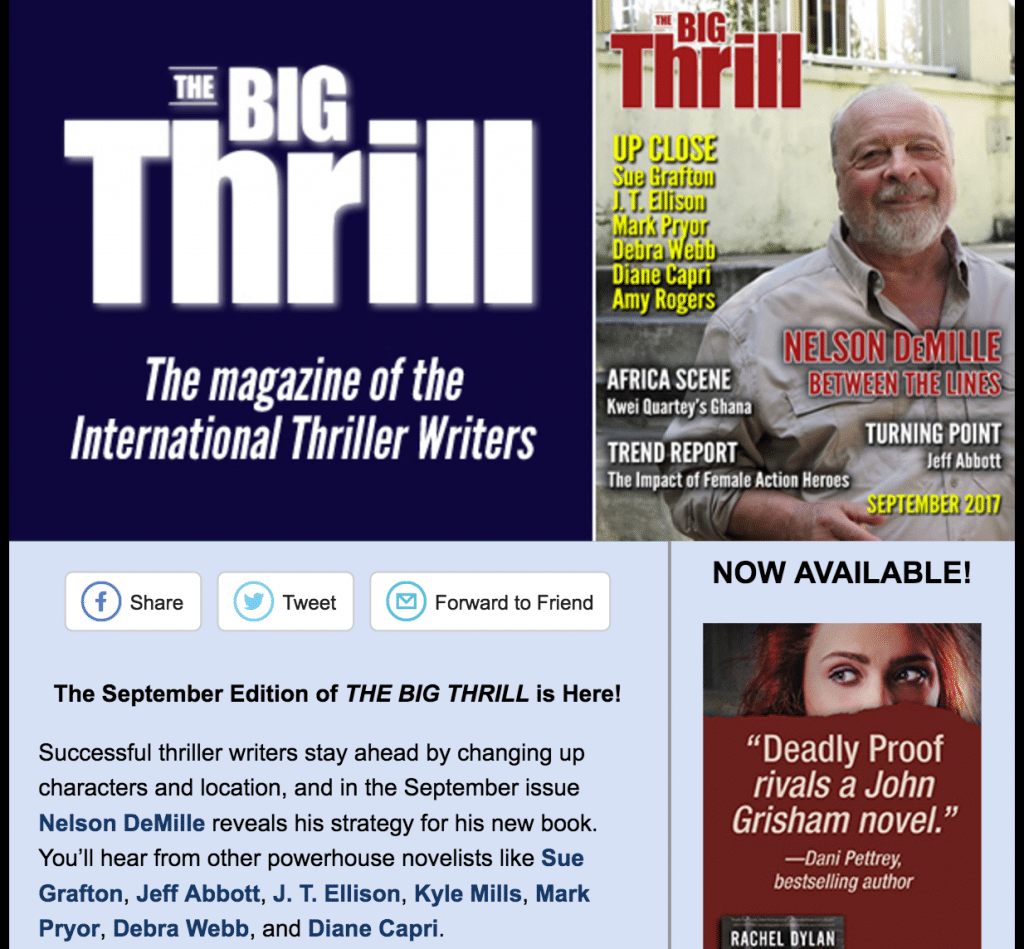 The Big Thrill Announcement